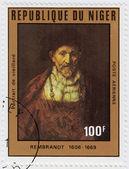 Vieillard портрет великого возрождения художника рембрандта — Стоковое фото