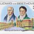 Ludwig van Beethoven meeting with Johann Wolfgang von Goethe — Stock Photo