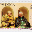 Постер, плакат: Winston Churchill L and Franklin D Roosevelt