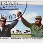 Постер, плакат: Leonid Brezhnev and Fidel Castro