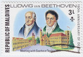 Ludwig van beethoven spotkanie z johann wolfgang von goethe — Zdjęcie stockowe