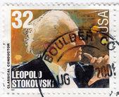 American classical Conductor Leopold Stokowski — Stock Photo
