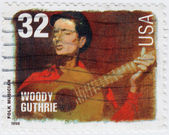 American folk Musician Woody Guthrie — Stock Photo