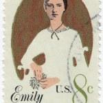 Emily Dickinson American poet — Stock Photo