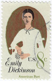 Emily Dickinson American poet — Stock Photo