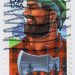 Paul Bunyis mythological lumberjack — Stock Photo #5302029