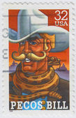 Pecos Bill is an American cowboy — Stock Photo