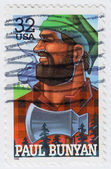 Paul Bunyan is a mythological lumberjack — Stock Photo