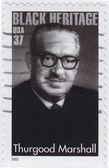 Thurgood Marshall American jurist — Stock Photo