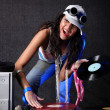 图库照片: Cool DJ in action