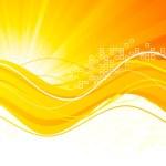 Background in orange color — Stock Vector