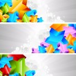 Set of banner with 3d star - Stock Vector