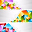 Set of banners with coloful cubes — Stock Vector