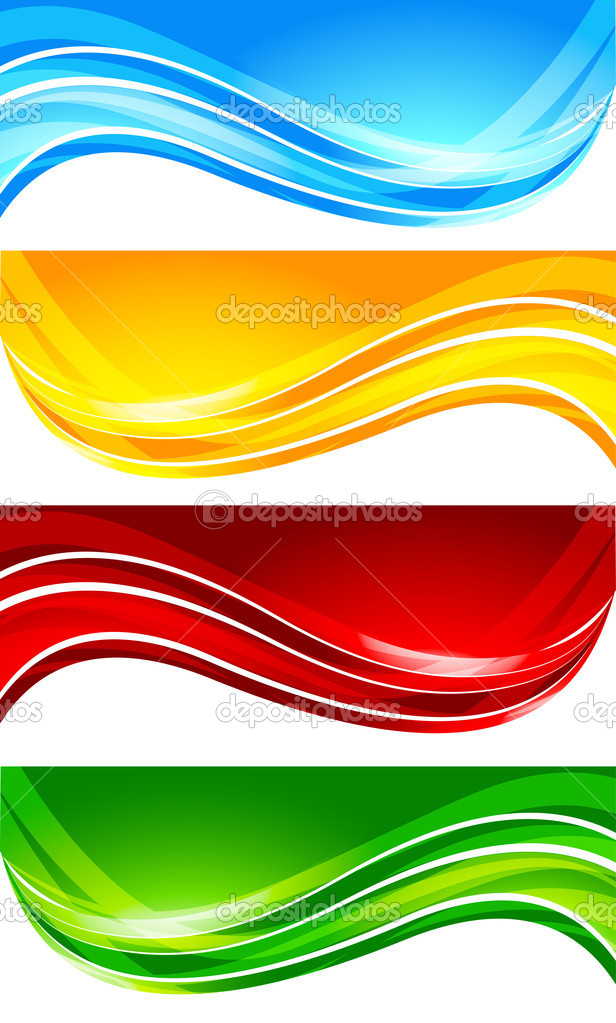 Set of abstract bright banner; clip-art — Stock Vector #4454287