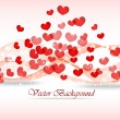 Background on Valentine day. Illustration with hearts — Stock Vector