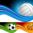 Stock Vector: Set sport background