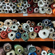 Stock Photo: Fabric rolls.