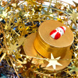 Gold Christmas decoration. — Stock Photo