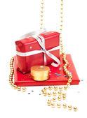Cajas de regalo rojo. — Foto de Stock