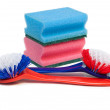 Cleaning brushes and kitchen sponges. — Stock Photo #4481559