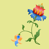 Stylized flowers. — Stock Vector
