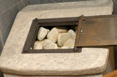 Stones for opening the door of bath furnace. — Stock Photo
