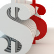 Stock Photo: Dollar signs of white color