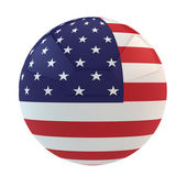 Flag of the USA put on sphere — Stock Photo
