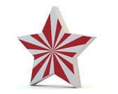 Star with red strips — Stock Photo