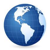 Blue world globe 2 — Stock Vector