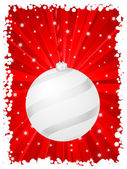 Vertical christmas background red — Stock Vector