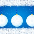 Christmas balls background blue — Stock Vector