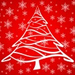 Royalty-Free Stock Vektorfiler: Red christmas tree background