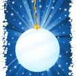 Vertical christmas background blue — Stockvectorbeeld