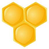 Geïsoleerde honingraat — Stockvector