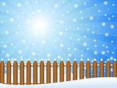 Winterlandschap 3 — Stockvector