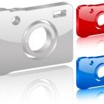 3D digitální fotografie symbol — Stock vektor