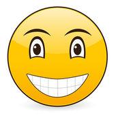 笑顔の顔文字 7 — ストックベクタ