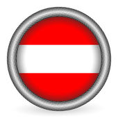 Austria flag button — Stock Vector