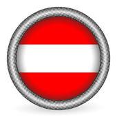 Austria flag button — Stock Vector