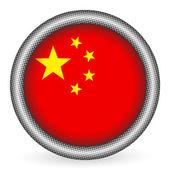Bouton indicateur de chine — Vecteur
