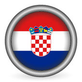 Croatia flag button — Stock Vector