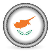 Cyprus flag button — Vector de stock