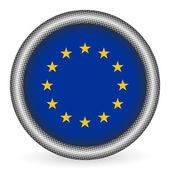 European union flag button — Stock Vector