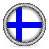 Botón de bandera de finlandia — Vector de stock