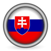 Slovakia flag button — Stock Vector
