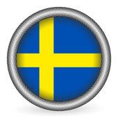 瑞典国旗按钮 — 图库矢量图片