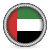 United Arab Emirates flag button — Stock Vector