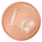 1 euro cent — Stock Vector