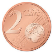 2 euro cent — Stock Vector